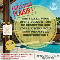 Votre maître d'œuvre à Aix-en-Provence, Marseille, PACA vous offre 60% de remise sur votre piscine !