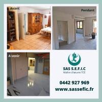 Rénovation complète d'une maison par votre maître d'œuvre TCE SAS SEFIC à Aix-en-Provence